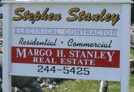 Stanley Sign Bass Harbor Road Southwest Harbor Maine