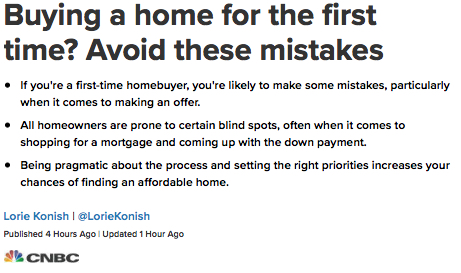 Avoid First Time Mistakes