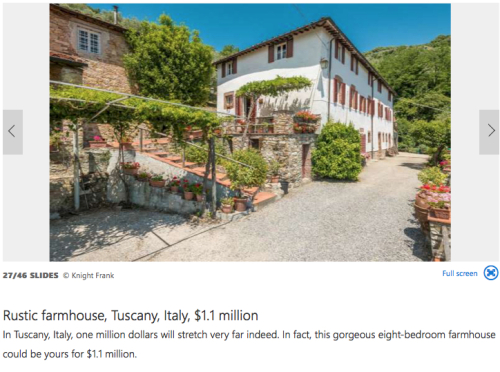 Tuscany Farmhouse $1.1 million