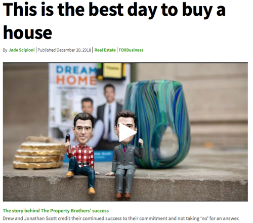 Best Day to Buy a Home Headline and Phone