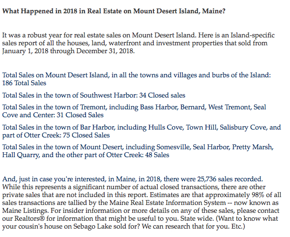 MDI Sales Report for 2018