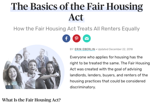 Fair Housing Guidelines from The Balance 02182019