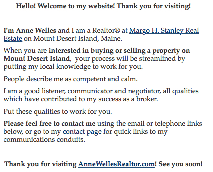 Anne Welles Welcome