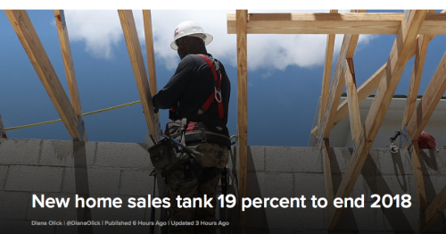 New Home Sales Tank 19 Percent