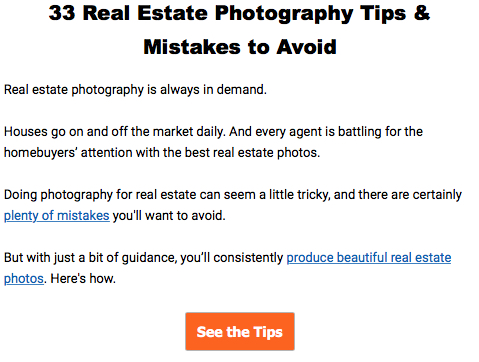 33 Real Estate Photography Tips
