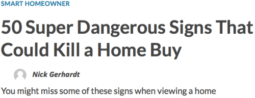 50 Dangerous Signs Headline
