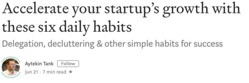 Six Daily Habits 6212019