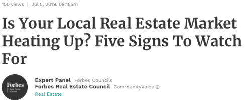 Is Your Local Real Estate Market Heating Up