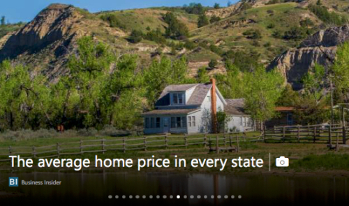 Average Home Price in Every State
