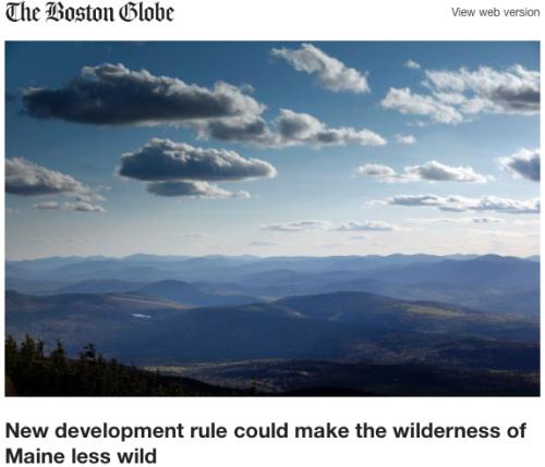 Maine Wilderness Less Wild