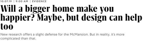 Will a Bigger Home Make You Happier?