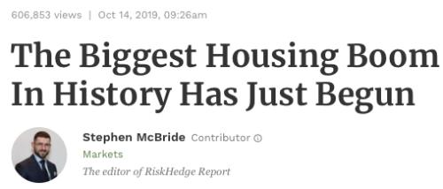 Housing Boom 10162019