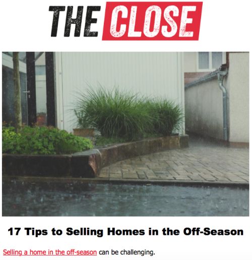 The Close Selling in the Off-Season