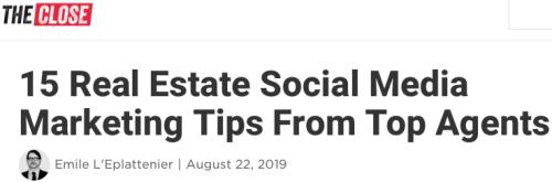 15 Real Estate Social Media Marketing Tips
