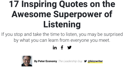 17 Quotes on Listening