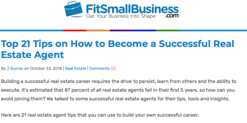 21 Tips on Real Estate Success by Fit