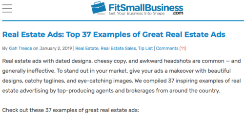 37 Great Real Estate Ads