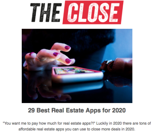 29 Real Estate Apps for 2020