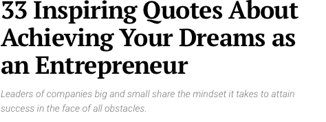 33 Quotes about Achieving Your Dreams
