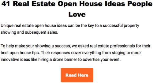 41 Open House Ideas
