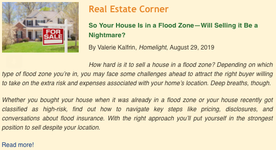 So Your Home is in a Flood Zone