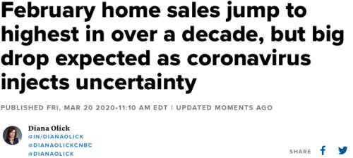 February Home Sales Headline