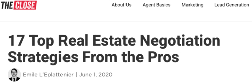 17 Real Estate Negotiation Strategies