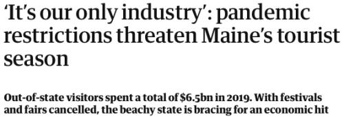 Maine Tourism Season Threatened